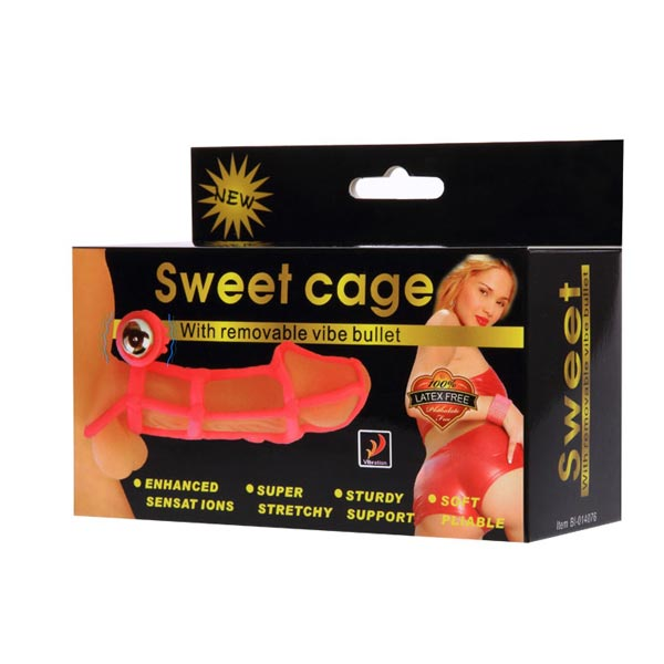 Bao cao su đôn dên lưới rung Sweet Cage