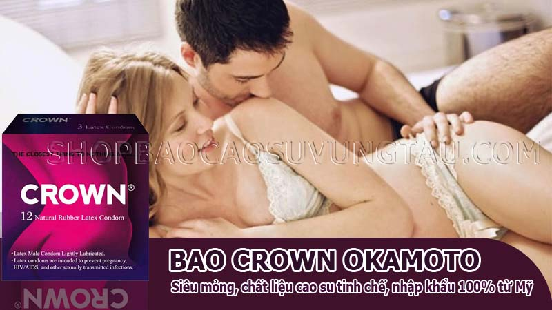 bao cao su siêu mỏng crown okamoto - shop bao cao su vũng tàu Cậu Nhỏ