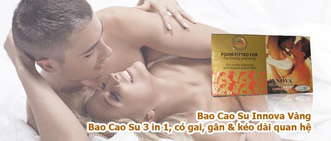 Bao Cao Su Innova Vàng Gân Gai Vũng Tàu