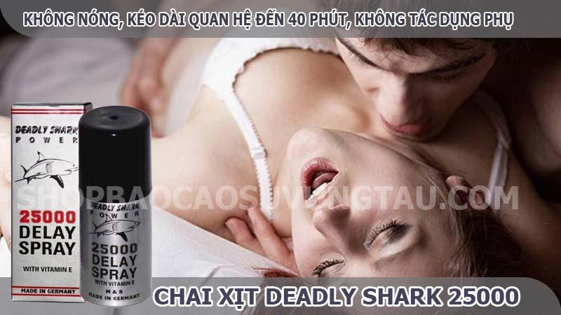 thuốc xịt chống xuất tinh sớm deadly shark - shop bao cao su vũng tàu Cậu Nhỏ