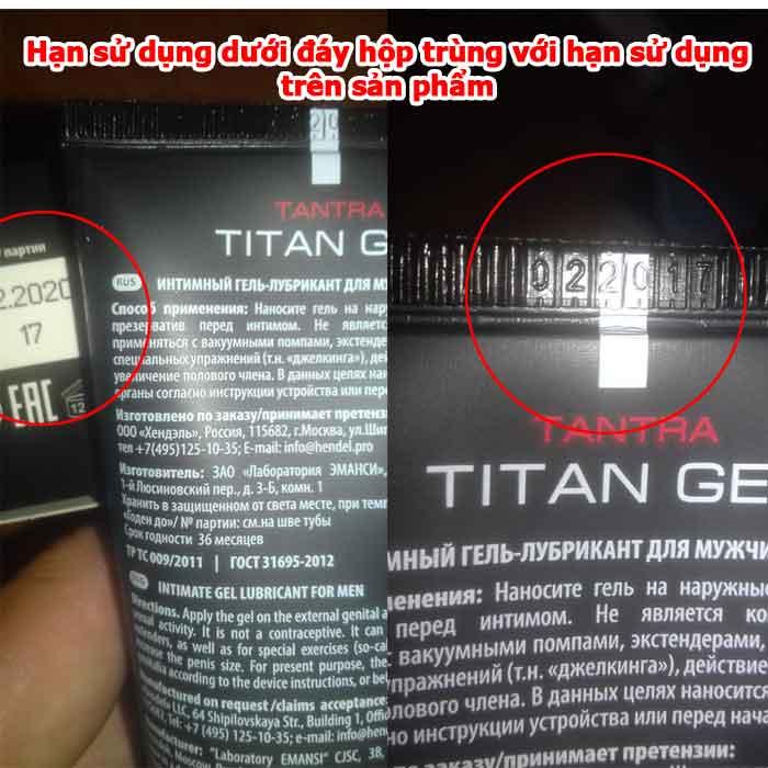 Gel Titan Nga Mẫu Mới - Chính hãng hàng ship Amazon