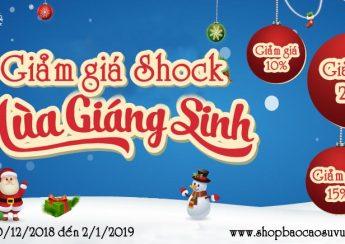 giảm giá shock noel và tết tây 2019