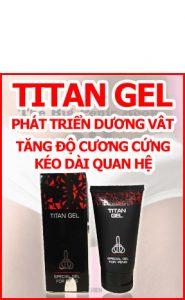 Gel titan giúp làm to dương vật và hỗ trợ cương cứng hiệu quả nhất vung tau