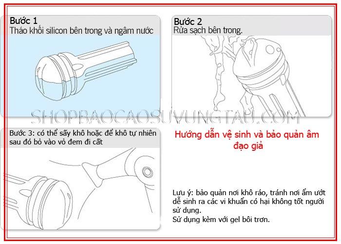 hướng dẫn vệ sinh âm đạo giả - shop bao cao su vũng tàu Cậu Nhỏ