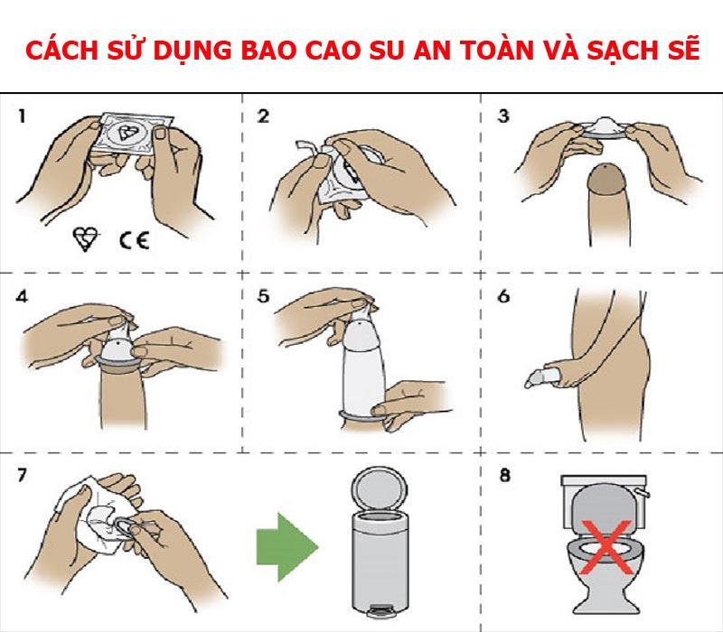 cách sử dụng bao cao su an toàn, sạch sẽ - shop bao cao su vũng tàu